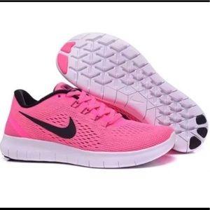 Nike Free fun RN women's running shoes sz 12 pink